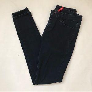 Uniqlo High Waisted Dark Wash Skinny Jeans